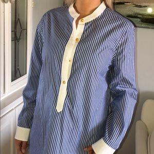 NWT Tory Burch cotton stripe blouse